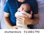 unrecognizable father with his... | Shutterstock . vector #511881790