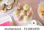 cake pops on cakestand and... | Shutterstock . vector #511881850