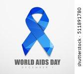 blue abstract polygonal ribbon... | Shutterstock .eps vector #511891780
