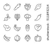 basic vegetables thin line icon ... | Shutterstock .eps vector #511893214