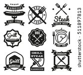 fast food vintage emblems  bbq...   Shutterstock . vector #511897813