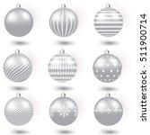 christmas grey balls   Shutterstock .eps vector #511900714