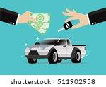 cartoon  businessman selling a... | Shutterstock .eps vector #511902958
