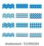 marine  sea  ocean waves set.... | Shutterstock . vector #511903354