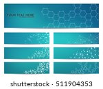 set of modern scientific... | Shutterstock .eps vector #511904353