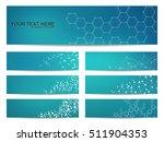 set of modern scientific... | Shutterstock .eps vector #511904353