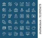 money and finance icons set... | Shutterstock .eps vector #511905673
