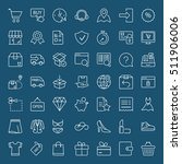shopping and shipping icons set ... | Shutterstock .eps vector #511906006