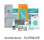 supermarket sale. household... | Shutterstock .eps vector #511908109