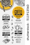coffee menu placemat food... | Shutterstock .eps vector #511913560