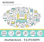 blogging concept illustration ... | Shutterstock .eps vector #511914694