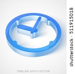 time icon  extruded blue... | Shutterstock .eps vector #511915018