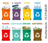 Different Colored Recycle Wast...