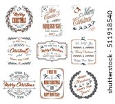 christmas and new year design... | Shutterstock .eps vector #511918540