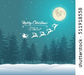 christmas vintage background on ... | Shutterstock .eps vector #511918558