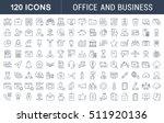 set vector line icons in flat... | Shutterstock .eps vector #511920136