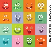 smiling monsters set. happy...   Shutterstock .eps vector #511920160
