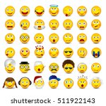 big emoticon set isolated on... | Shutterstock .eps vector #511922143