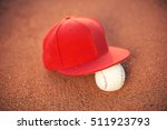 Baseball Ball And Baseball Cap...