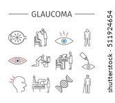 glaucoma. symptoms  treatment.... | Shutterstock .eps vector #511924654