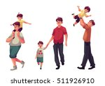 father and son  set of cartoon... | Shutterstock .eps vector #511926910
