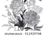 peonies seamless floral pattern.... | Shutterstock .eps vector #511929748