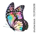 watercolor butterfly   isolated ... | Shutterstock . vector #511932658