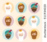 the three kings of orient.... | Shutterstock .eps vector #511934020