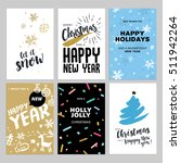 christmas and new year flat... | Shutterstock .eps vector #511942264