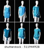 Six Mannequin In Female Blue...