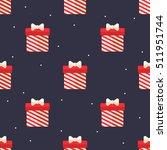 flat christmas gift seamless... | Shutterstock .eps vector #511951744