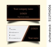 a simple business card  | Shutterstock . vector #511954006