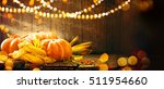 happy thanksgiving day... | Shutterstock . vector #511954660