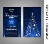 set of stylized christmas tree... | Shutterstock .eps vector #511956256