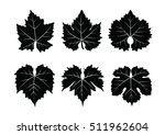 collection of vector wine... | Shutterstock .eps vector #511962604