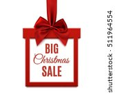 big christmas sale  square... | Shutterstock . vector #511964554