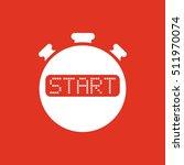 the start stopwatch icon. clock ...