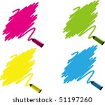 Vector Illustration of colorful marker labels set - stock vector