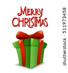 christmas gift box with ribbon... | Shutterstock .eps vector #511973458