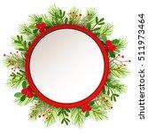 christmas wreath. | Shutterstock .eps vector #511973464
