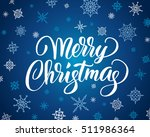 merry christmas card with brush ... | Shutterstock .eps vector #511986364