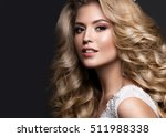 beautiful blonde bride in... | Shutterstock . vector #511988338