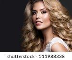 beautiful blonde bride in... | Shutterstock . vector #511988338