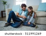 father and daughter interacting ... | Shutterstock . vector #511991269