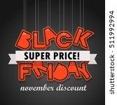black friday sale logo design... | Shutterstock .eps vector #511992994