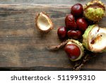 Several Ripe Chestnuts On A...