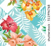 tropical floral seamless... | Shutterstock .eps vector #511996768