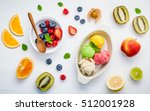 colorful ice cream with mixed... | Shutterstock . vector #512001928