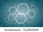abstract hexagon and gears... | Shutterstock .eps vector #512002069