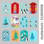 collection of cute christmas... | Shutterstock .eps vector #512003008